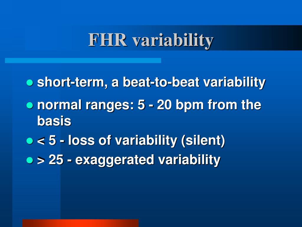 FHR variability