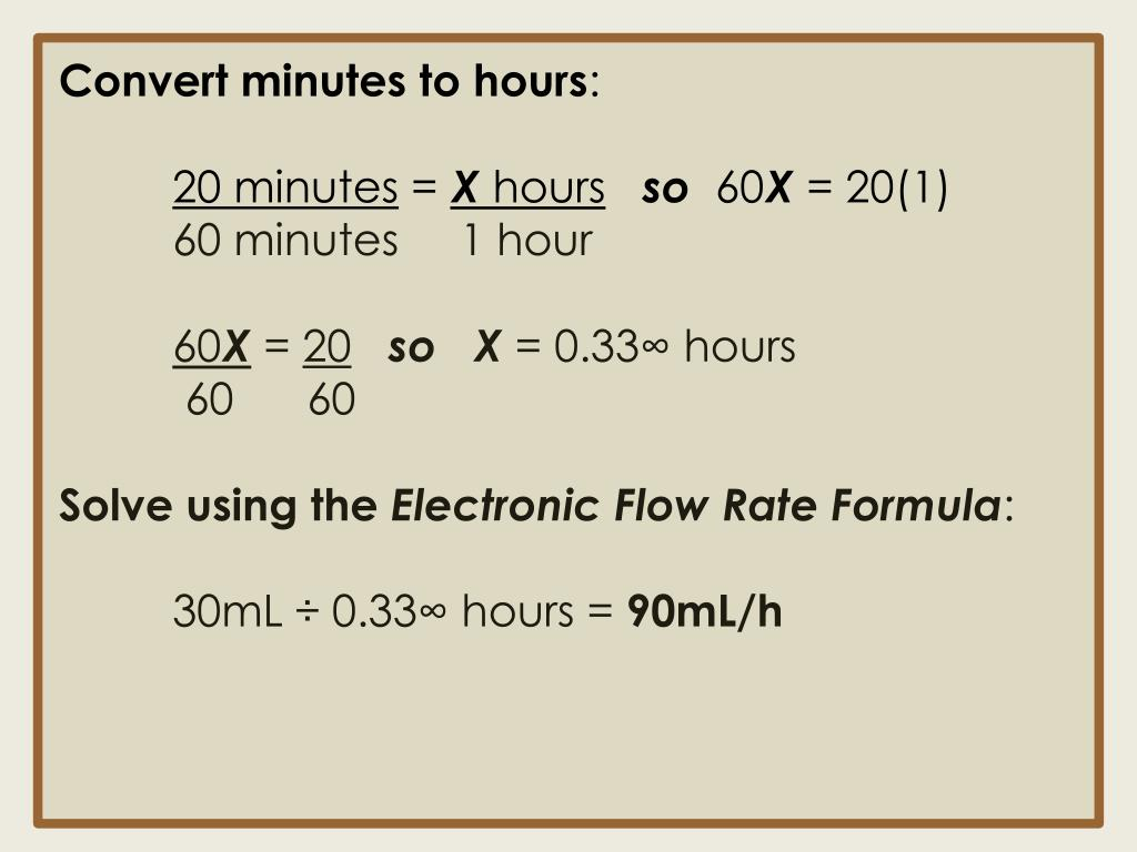 Convert minutes to hours
