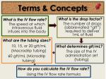 terms concepts