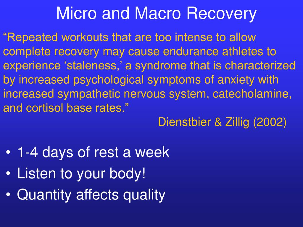 Micro and Macro Recovery