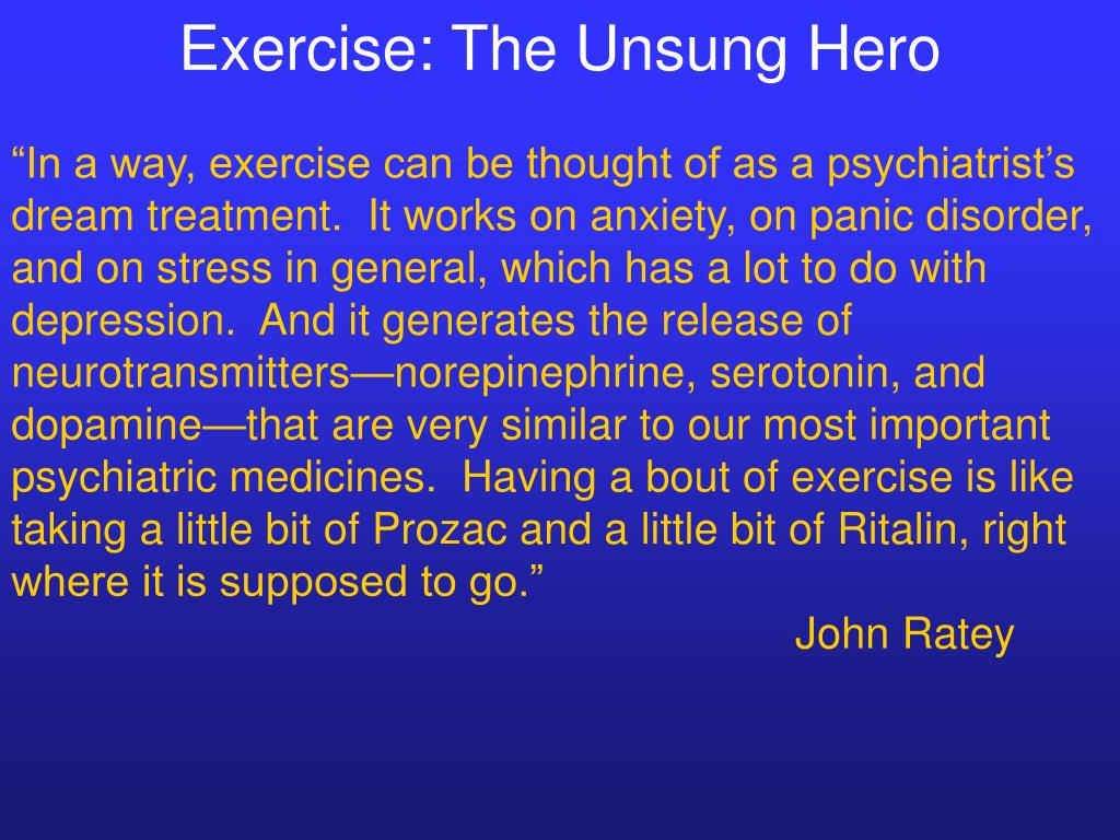 Exercise: The Unsung Hero