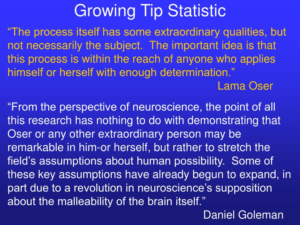 Growing Tip Statistic