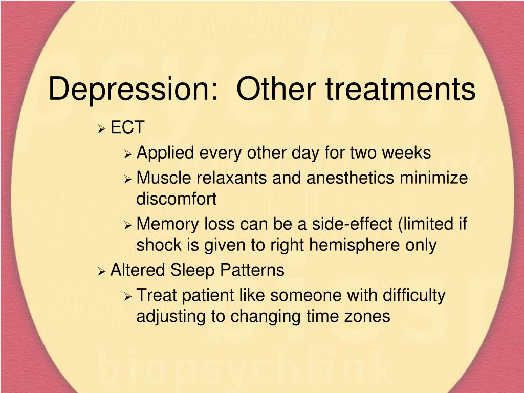 Depression:  Other treatments