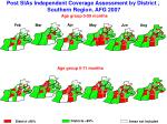 post sias independent coverage assessment by district southern region afg 2007