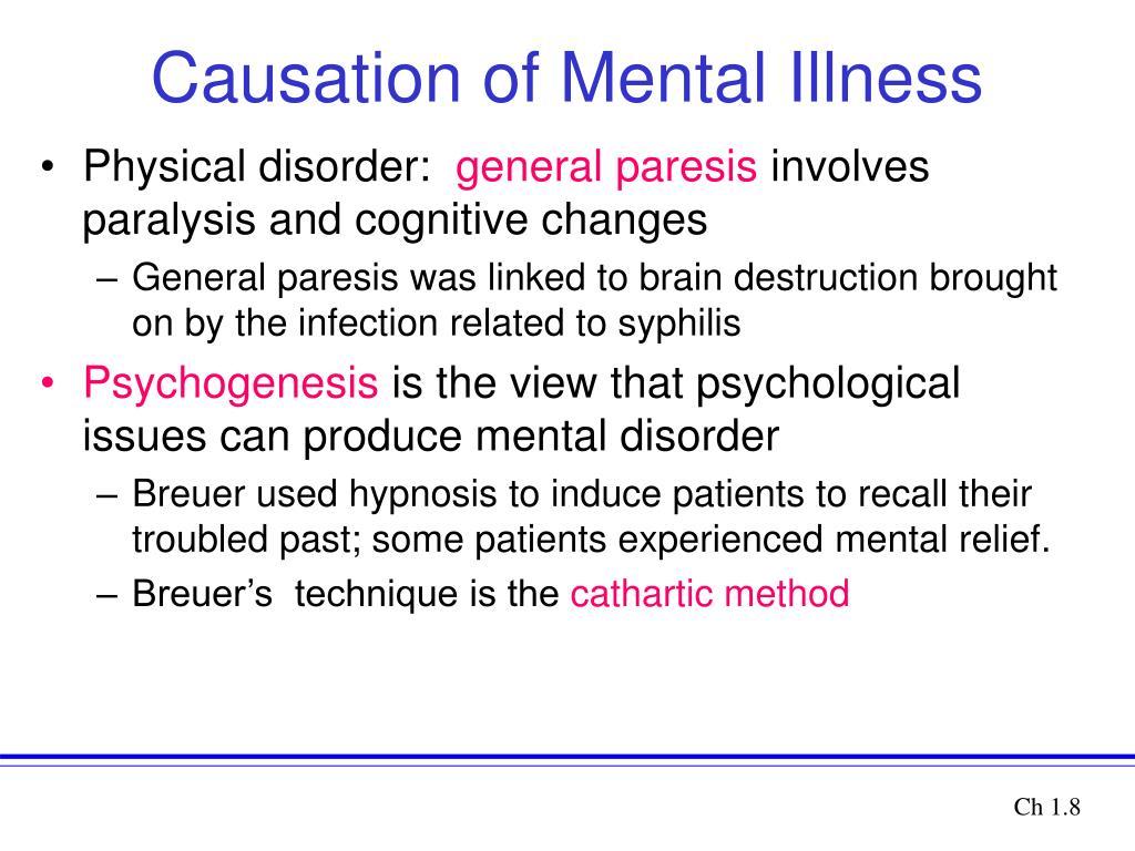 Causation of Mental Illness