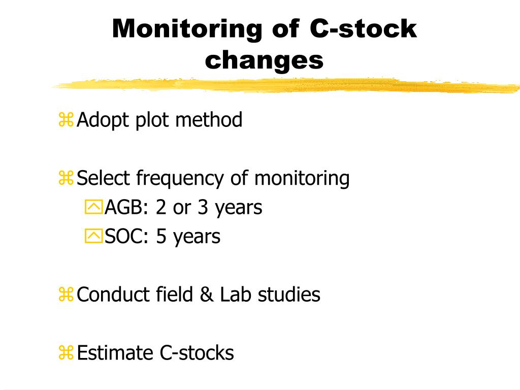 Monitoring of C-stock changes
