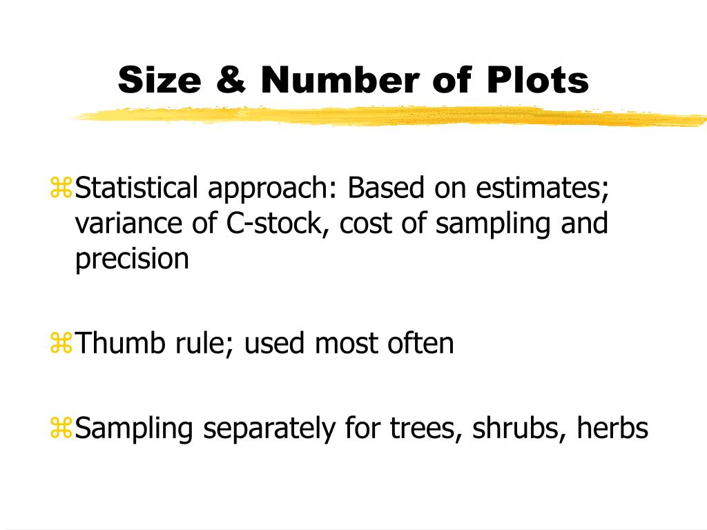 Size & Number of Plots