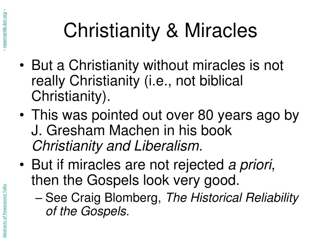 Christianity & Miracles