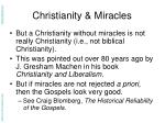 christianity miracles