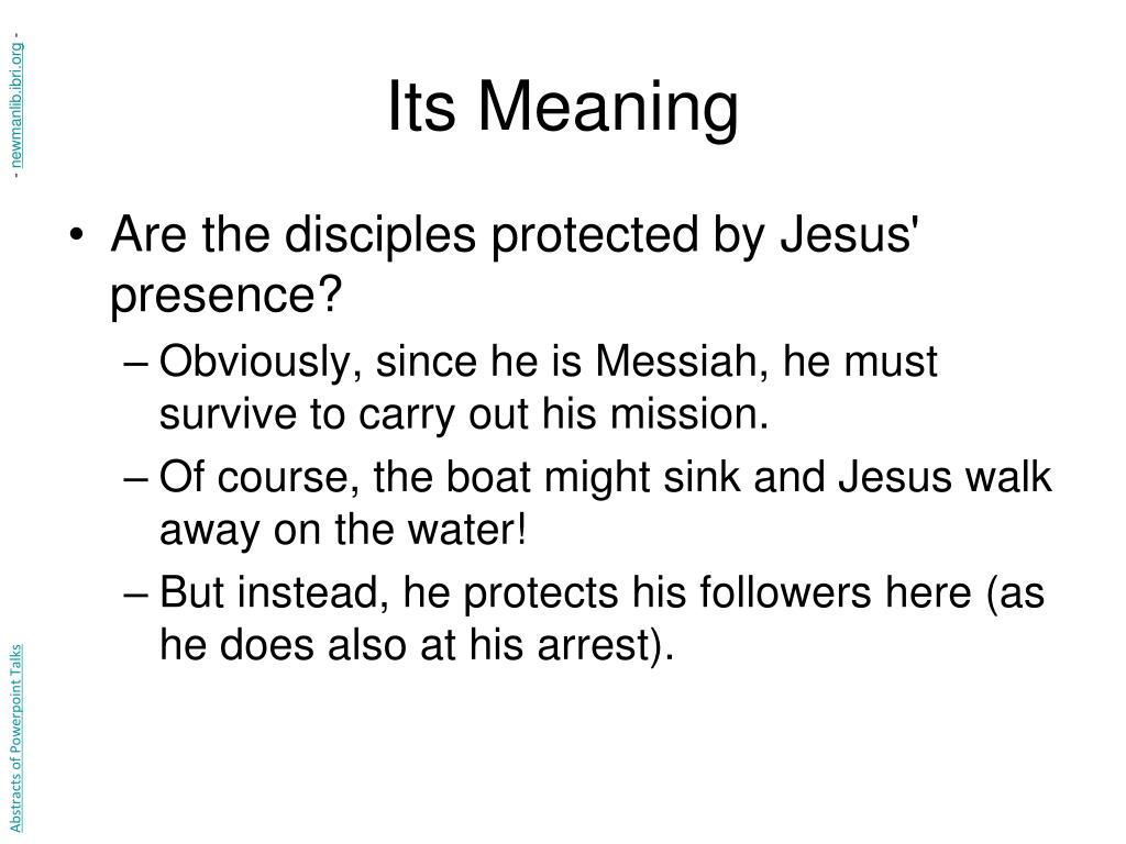Its Meaning