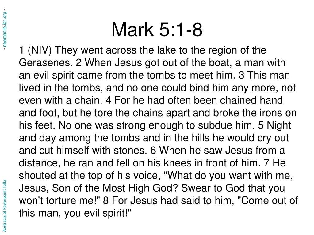 Mark 5:1-8