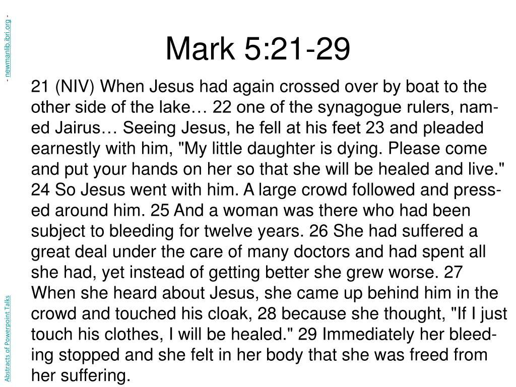 Mark 5:21-29