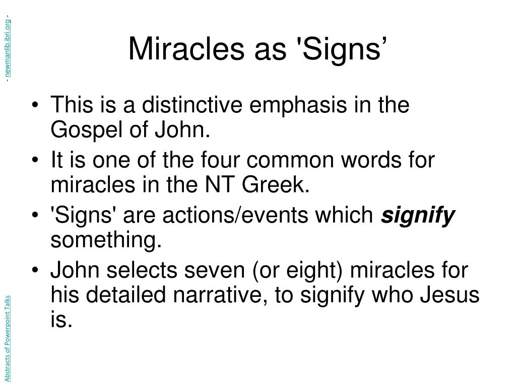 Miracles as
