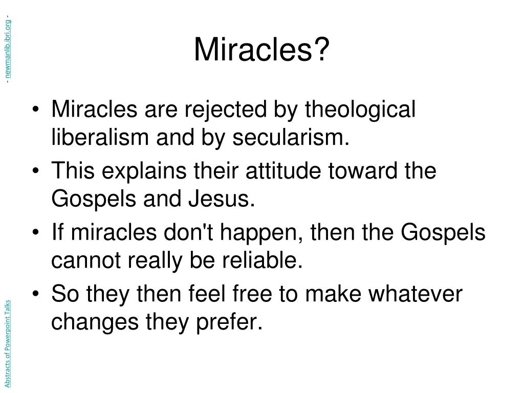 Miracles?
