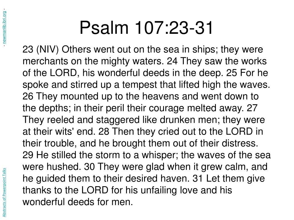 Psalm 107:23-31