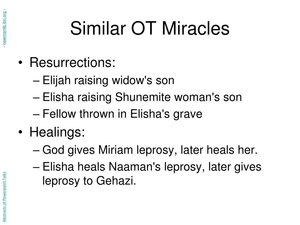 Similar OT Miracles
