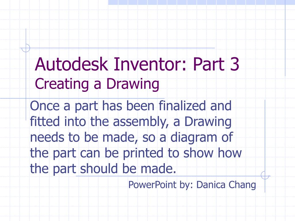 Autodesk Inventor: Part 3