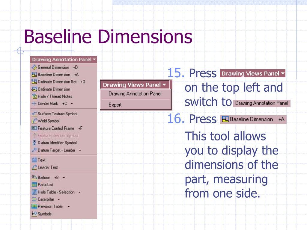 Baseline Dimensions