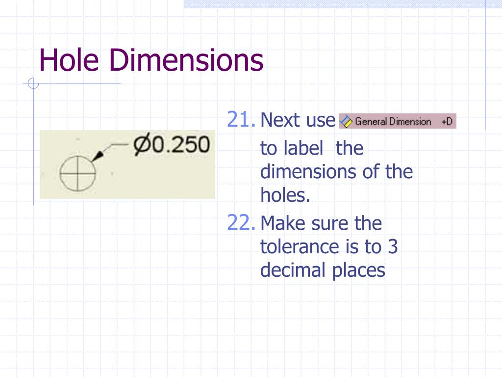 Hole Dimensions