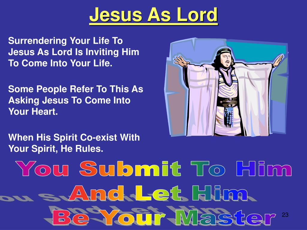 Jesus As Lord