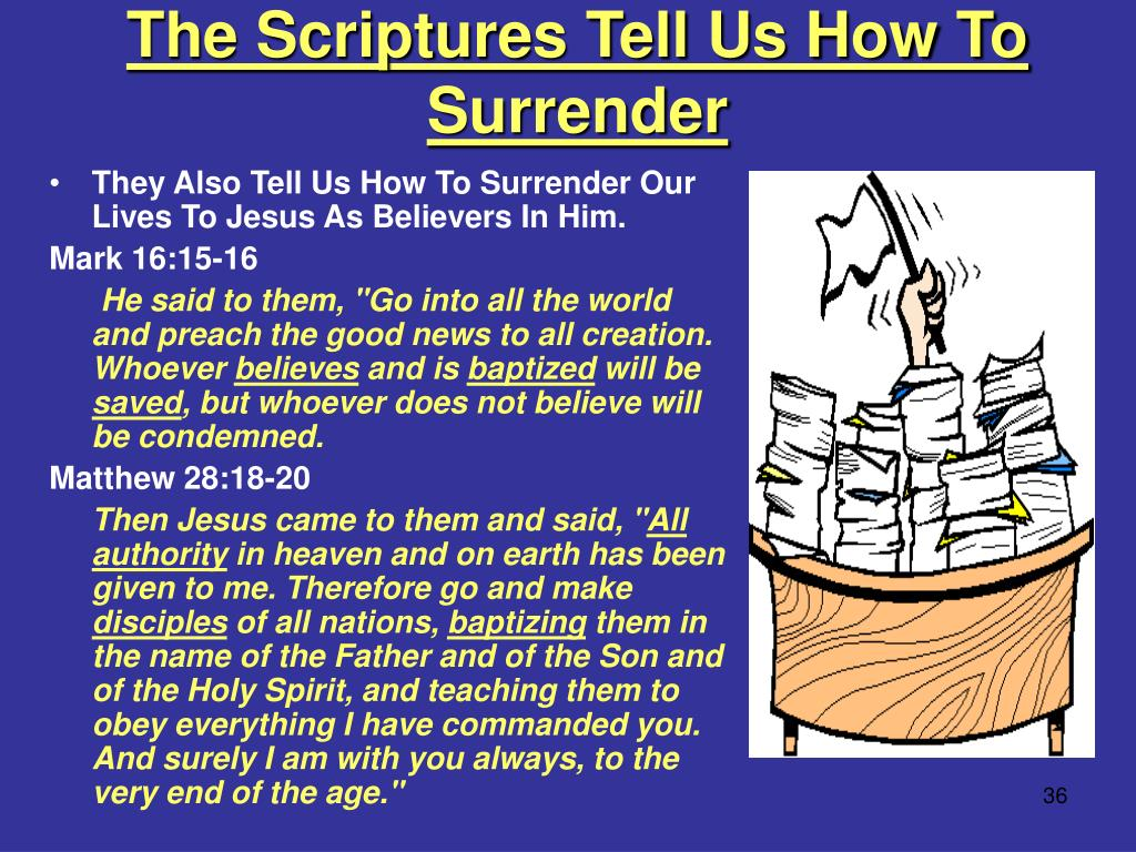 The Scriptures Tell Us How To Surrender