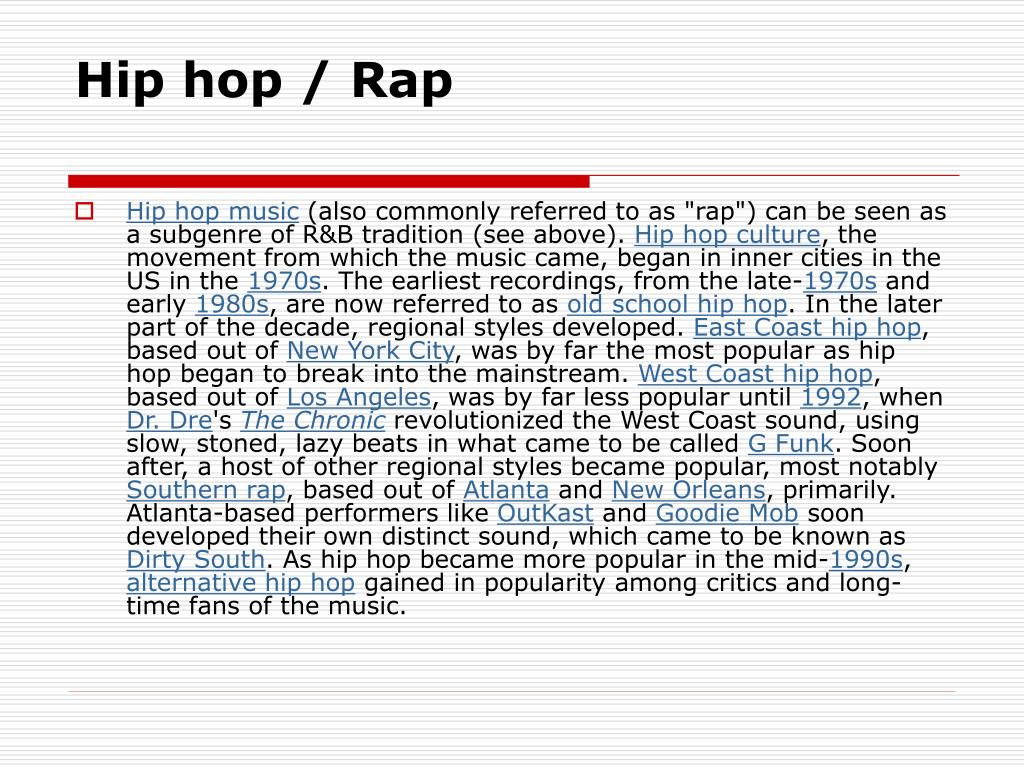 Hip hop / Rap