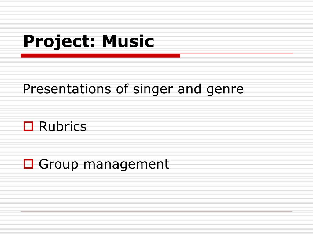 Project: Music