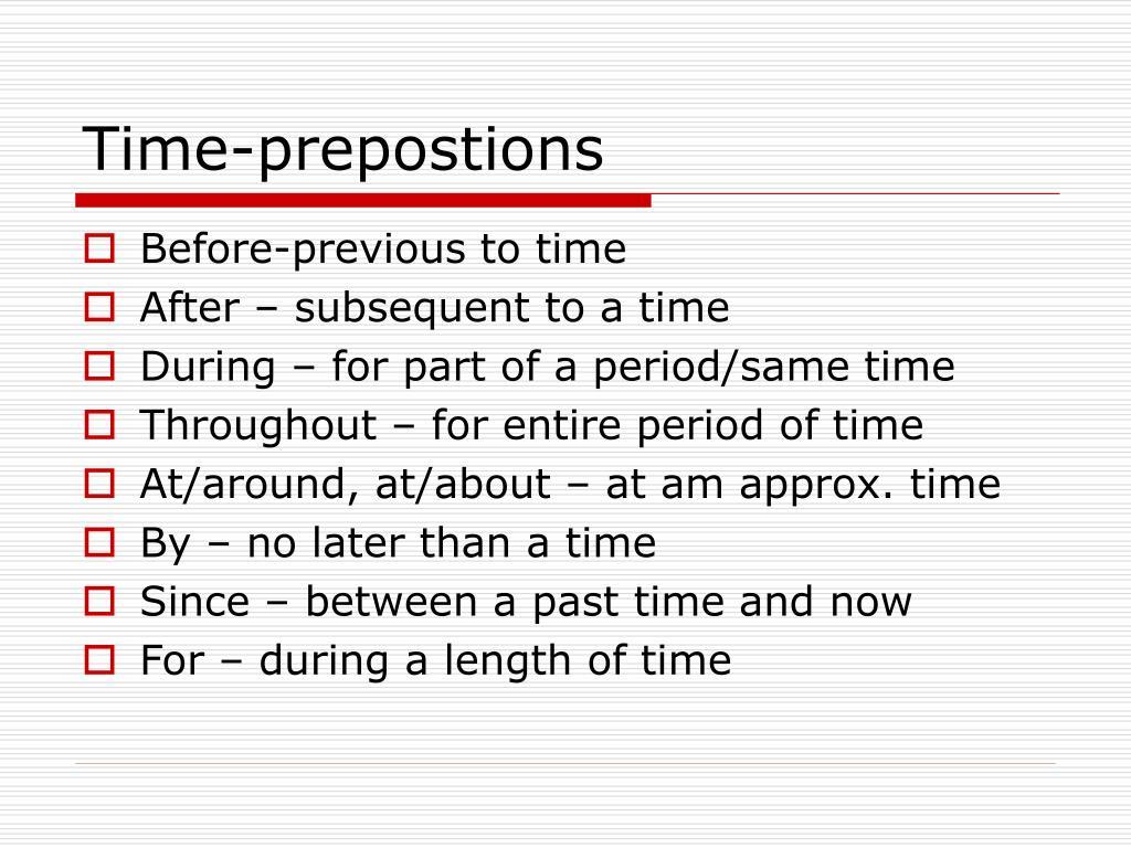 Time-prepostions