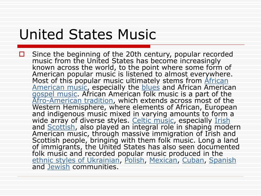 United States Music