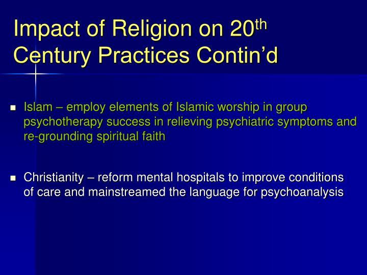 Impact of Religion on 20