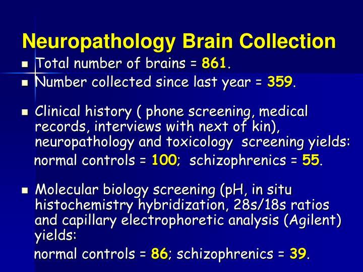 Neuropathology Brain Collection