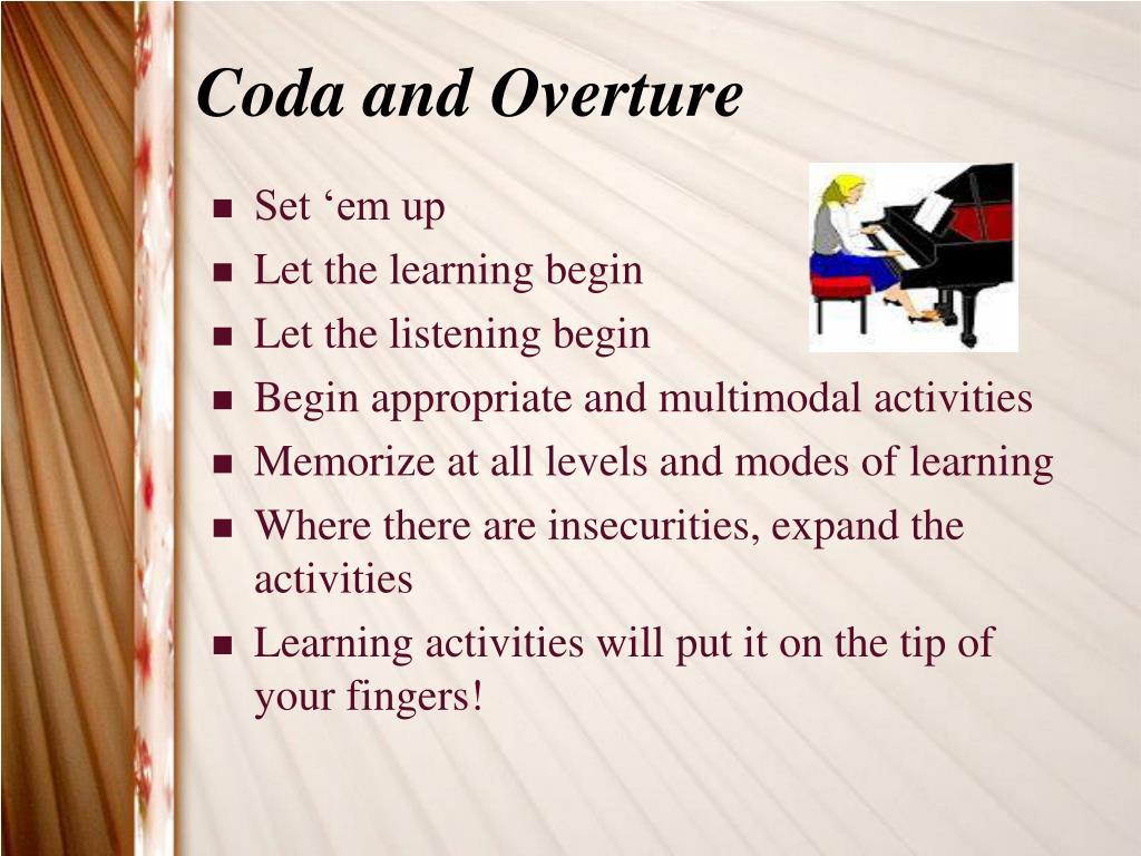 Coda and Overture