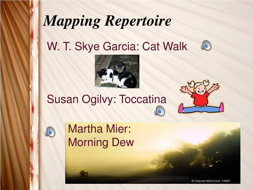 Mapping Repertoire