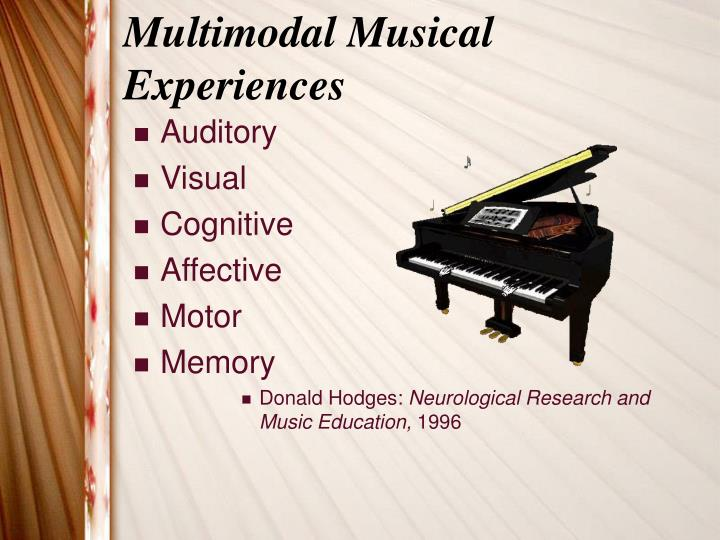Multimodal musical experiences