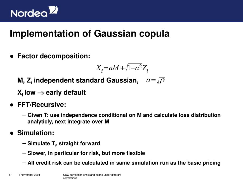Implementation of Gaussian copula