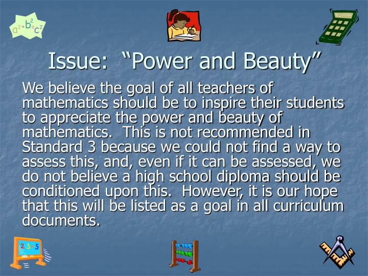 """Issue:  """"Power and Beauty"""""""