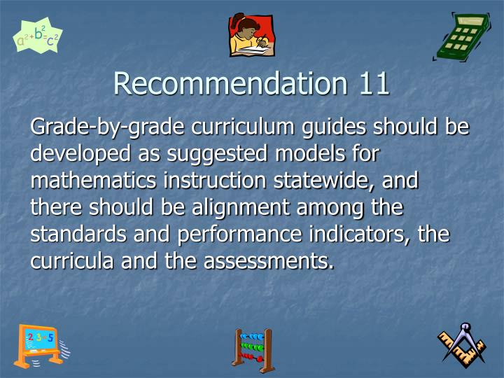 Recommendation 11