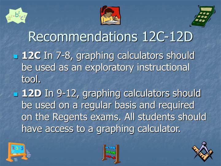 Recommendations 12C-12D