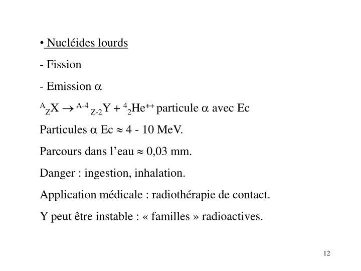 Nucléides lourds