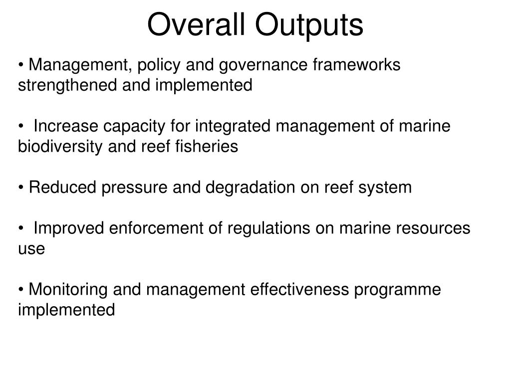 Overall Outputs