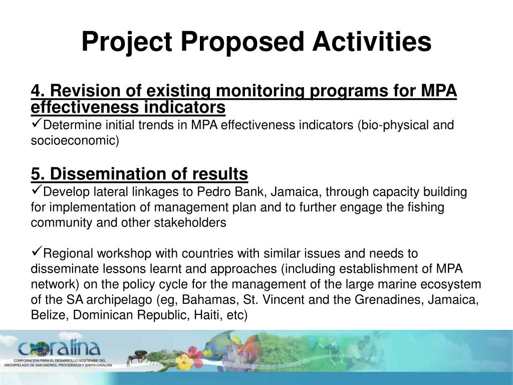 Project Proposed Activities