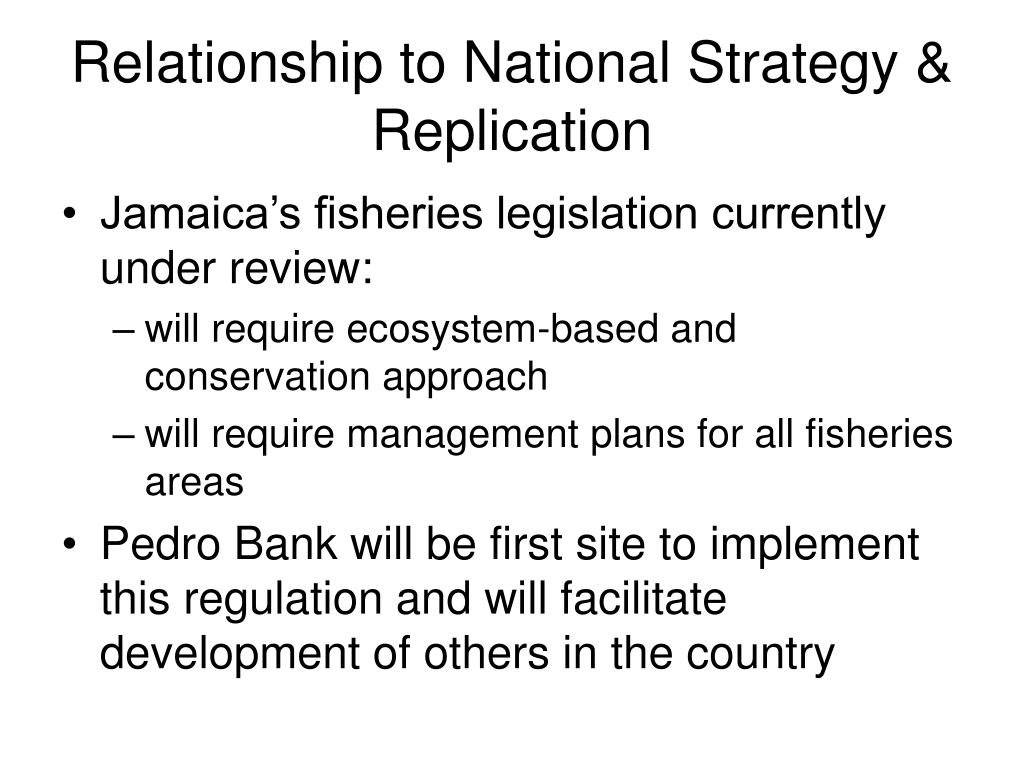 Relationship to National Strategy & Replication