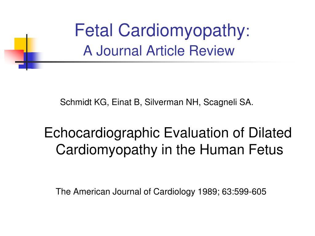 Fetal Cardiomyopathy