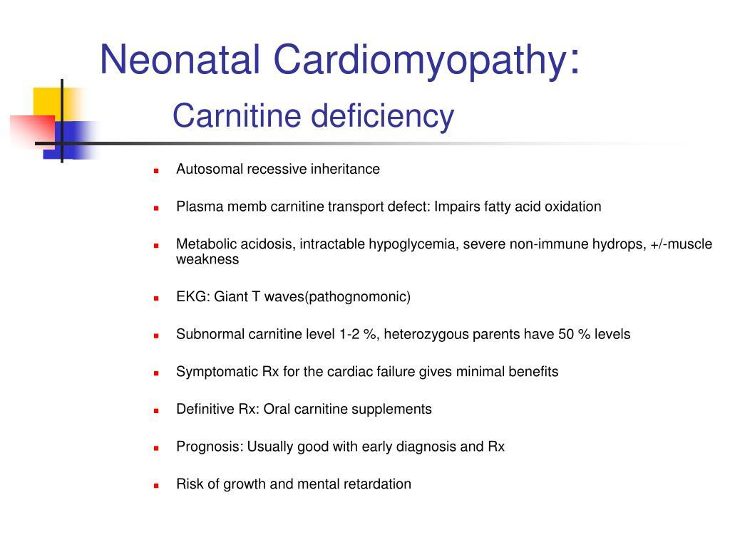 Neonatal Cardiomyopathy