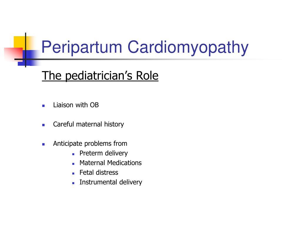 Peripartum Cardiomyopathy