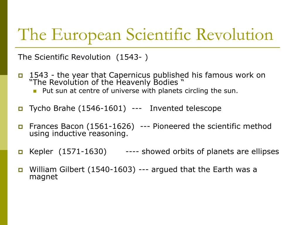 The European Scientific Revolution