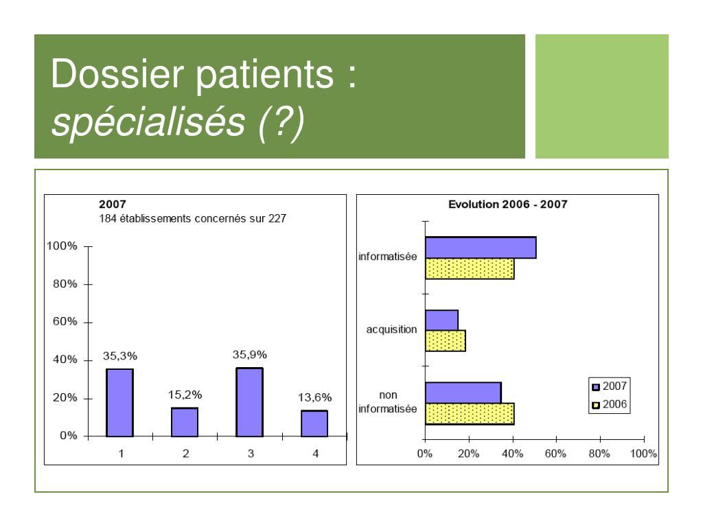 Dossier patients :