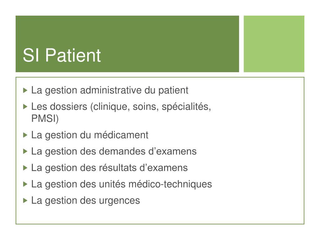 SI Patient