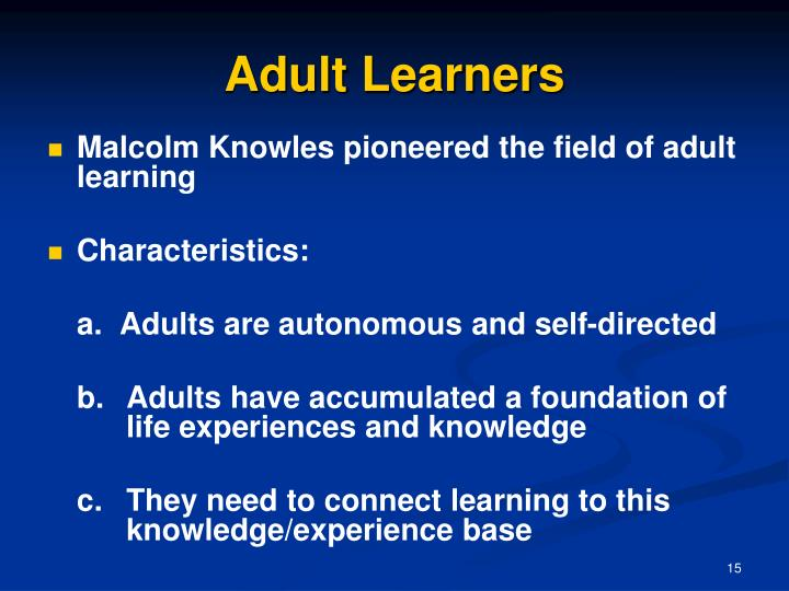Seven Characteristics of Adult Education MeetingsNet