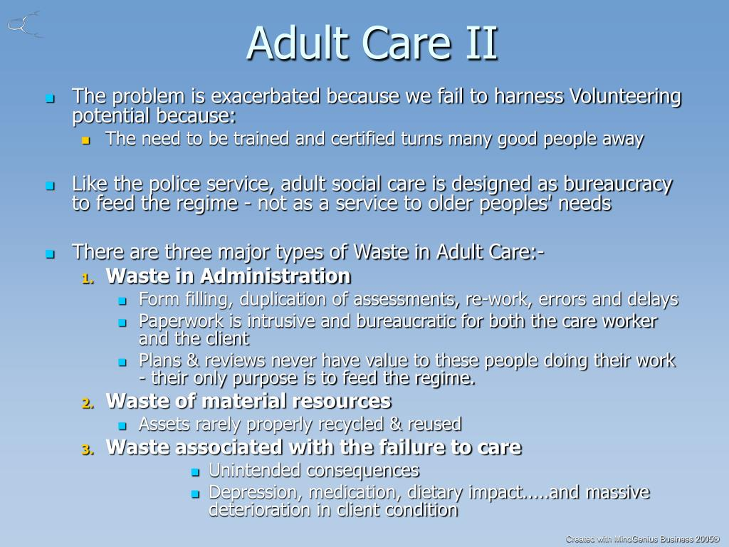 Adult Care II